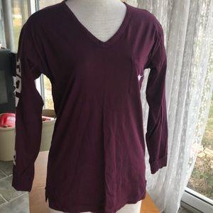 PINK like new longsleeve t-shirt oversized XS